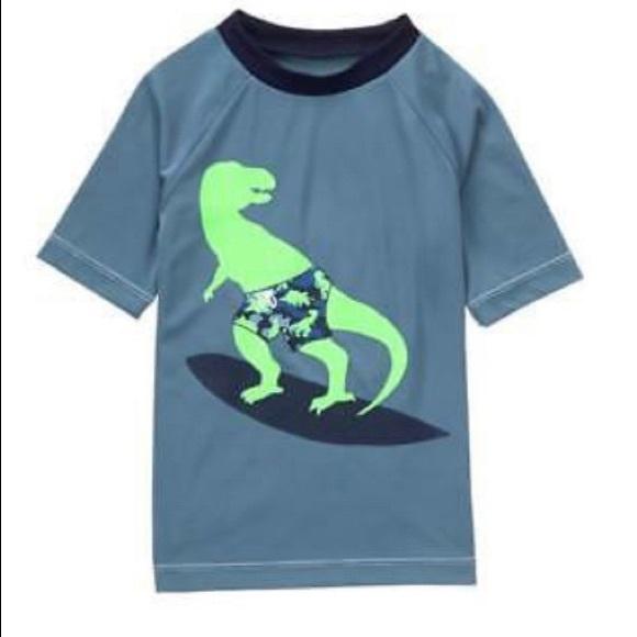 NWT Gymboree Boys Swimsuit Rash Guard Swim trunk Dinosaur Set 5 10 12